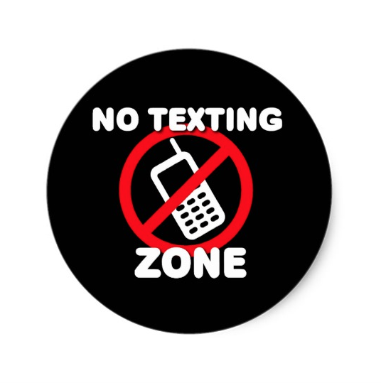 Texting Zone Sign